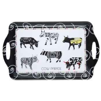 Théière noire et blanche avec filtre en porcelaine Vache Black Cow -blckTHE2L