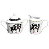 tisaniere en porcelaine vache black cow blcktisal