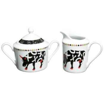 Tisanière en porcelaine Vache Black Cow -blckTISAL
