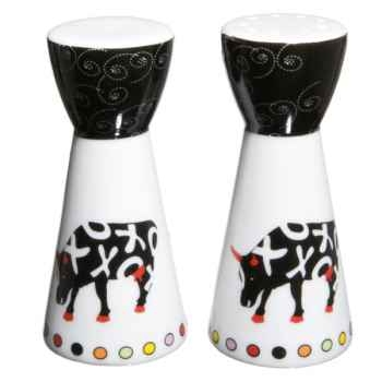 Set sel et poivre en porcelaine Vache Black Cow -blckSEPOL