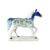 figurine painted ponies chevalet it snow po12285