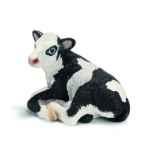 figurine veau holstein couche schleich 13639