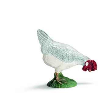 Figurine Poule qui picore Schleich -13647