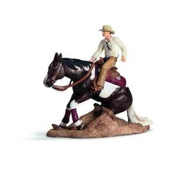Figurine Set d\'équitation western Schleich -42036