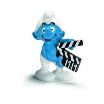 Figurine Schtroumpf clap de cinéma Schleich -20710
