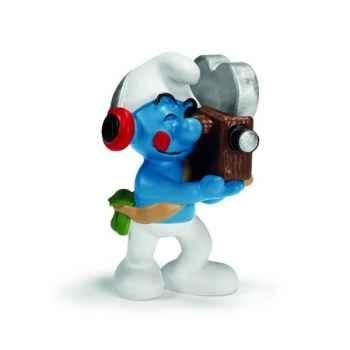 Figurine Schtroumpf cadreur Schleich -20714