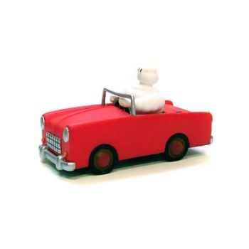 Figurine Plastoy Bibendum en voiture rouge - 68218