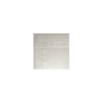 Nappe St Roch rectangulaire Salomée Blanc -00