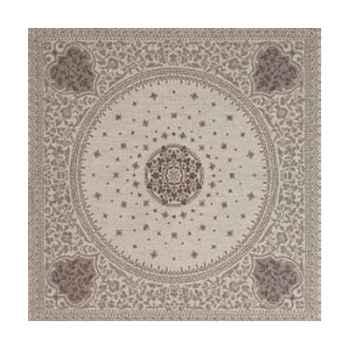 Nappe St Roch rectangulaire Tsarine argent pur coton  -01