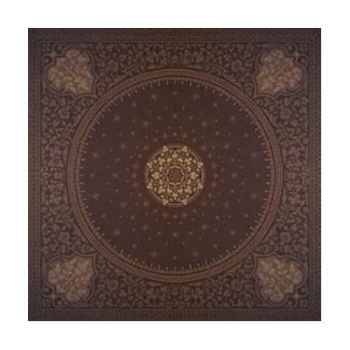 Nappe St Roch rectangulaire Tsarine chocolat  -01