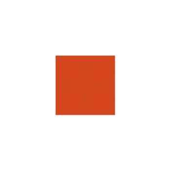 Nappe ronde St Roch Quadrille orange 180 -33