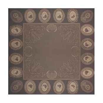 Nappe carrée St Roch Sixtine Platine pur coton -19