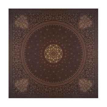 Nappe carrée St Roch Tsarine chocolat pur coton -31