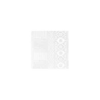 Nappe carrée St Roch Byzance blanc 160x160 -00