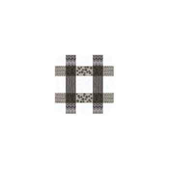 Nappe carrée St Roch Patchpop gris 180x180 -91