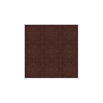 Nappe St Roch carrée Quadrille moka 210x210 -91
