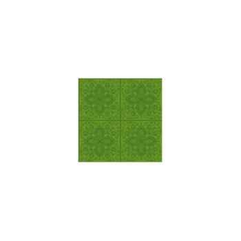 Nappe carrée St Roch Quadrille anisé 180x180 -80