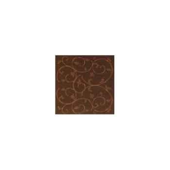 Nappe carrée St Roch Toscane moka 160x160 -91