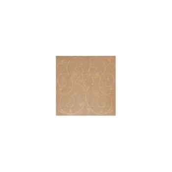 Nappe carrée St Roch Toscane or 160x160 -21