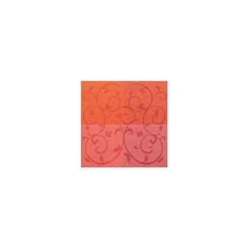 Nappe carrée St Roch Toscatival cyclamen coton enduit 160x160 -01