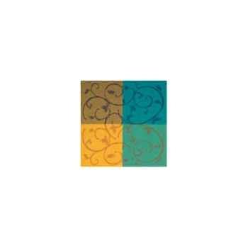 Nappe carrée St Roch Toscatival multicolore coton enduit 160x160 -06