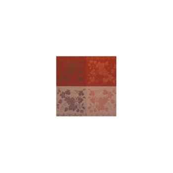 Nappe carrée St Roch Vendangival terre coton enduit 160x160 -33