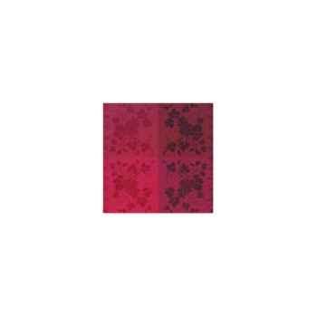 Nappe carrée St Roch Vendangival rubis coton enduit 180x180 -55