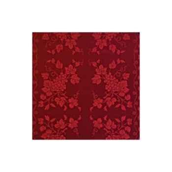 Nappe St Roch carrée Vendange bordeaux pur coton 210x210 -61