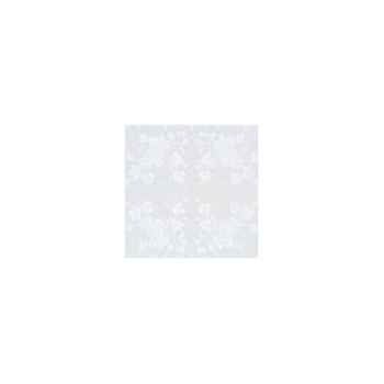 Nappe St Roch carrée Vendange blanc pur coton 210x210 -00