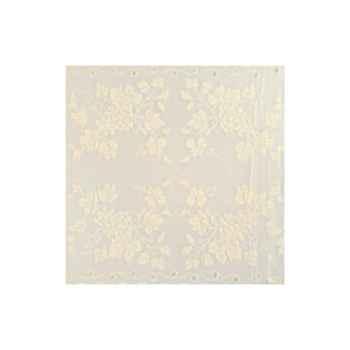 Nappe St Roch carrée Vendange ivoire pur coton 210x210 -05