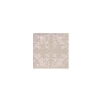 Nappe carrée St Roch Vendange mastic pur coton 160x160 -35
