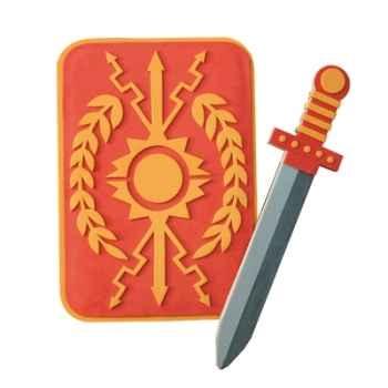 Epée mousse Le coin des enfants glaive romain -17799