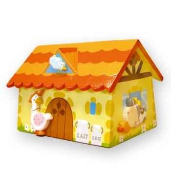 Tirelire maison Le coin des enfants ferme -08599