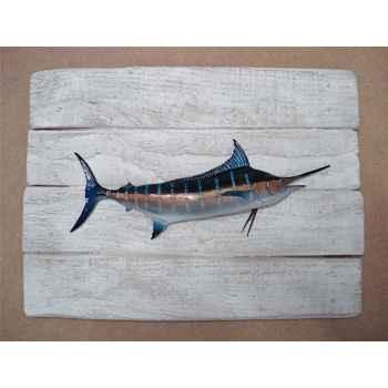 Cadre poisson des tropiques Cap Vert Marlin bleu -CADR37