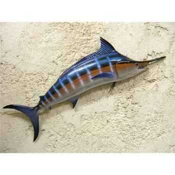 Petite sculpture relief Cap Vert Marlin bleu -PSR007