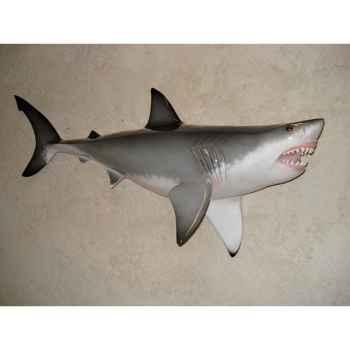 Grande sculpture relief Cap Vert Grand requin blanc -GSR003