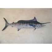 grande sculpture relief cap vert marlin bleu gsr005