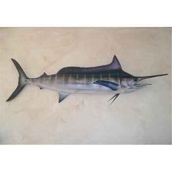 Grande sculpture relief Cap Vert Marlin bleu -GSR005