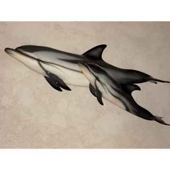 Trophée mammifère marin Cap Vert Dauphin bleu et blanc -TR025