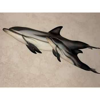 Trophée mammifère marin Cap Vert Dauphin bleu et blanc -TRDF24
