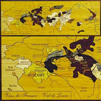 Carte des vins du Val de Loire Creartion -vdf-val