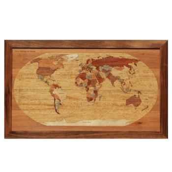 Monde politique planisphère en couleur Creartion -pacoul-1