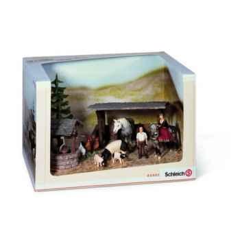 Figurine Schleich Set de jeu - Le Monde des chevaliers -43402