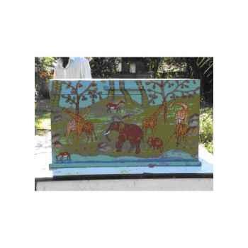 Coffre à jouet en bois de sapin Terre Sauvage -wf02elephant