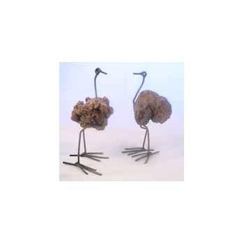 Petite Autruche en bois flotté Terre Sauvage -DO01
