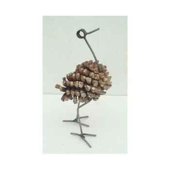 Autruche en pomme de pin Terre Sauvage -DO06