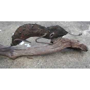 Caméléon sur bois flotté Terre Sauvage -DO08