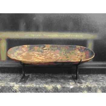 Bol en bois avec support en métal Terre Sauvage -WBWT01