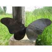 papillon lampe pour mur en metarecycle terre sauvage wb06