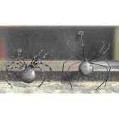 petite araignee pour mur en metarecycle terre sauvage ws02